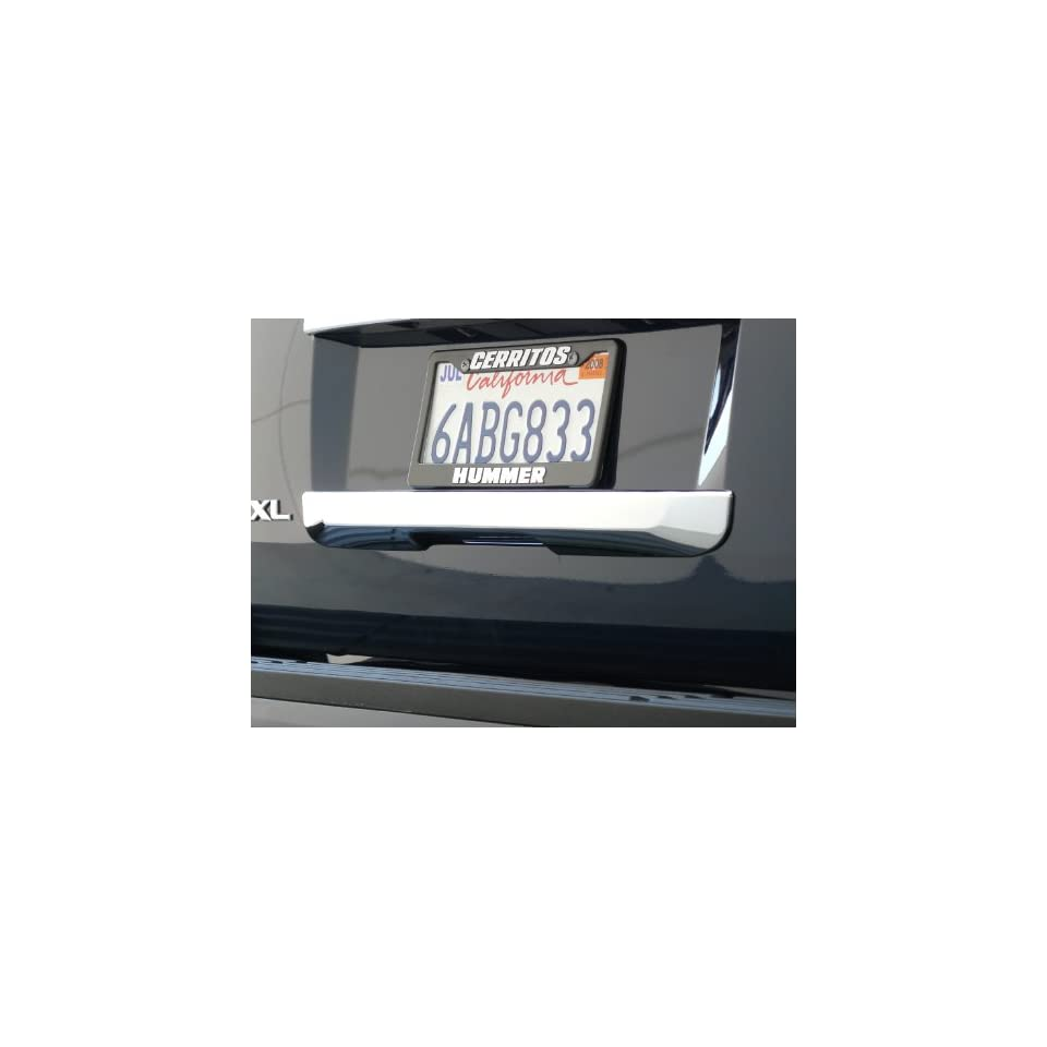 151VT Cadillac ESV / Chevrolet Tahoe & Suburban / GMC Yukon / Yukon Xl / Denali 2007   2011 Chrome ABS Tailgate Handle Insert Accent Valutrim (Lower Insert Below License Plate)