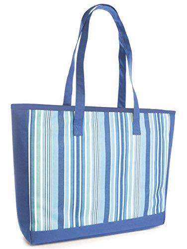 Zipper Blue Womens Summer Shoulder Bag Shopping Day Weave Handbag Ladies Beach Tote zBPRq