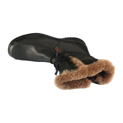 JOMOS Damen warme Stiefel, schwarz, Leder/Fell, 990677-1 schwarz