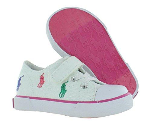 Polo Ralph Lauren Kids Bal Harb Captoe Captoe High Top Sneaker (Toddler),White Multi,10 M US Toddler