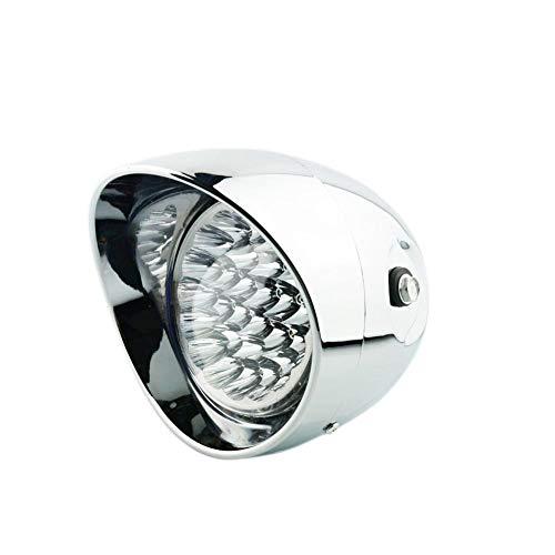 Bullet Headlamp - Universal Chrome 7