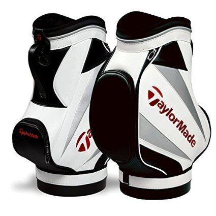 TaylorMade Den Caddie Bag, White/Black/Red by TaylorMade