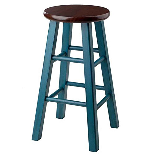 Winsome Wood 62224-WW Ivy Model Name Stool Rustic Teal Walnut