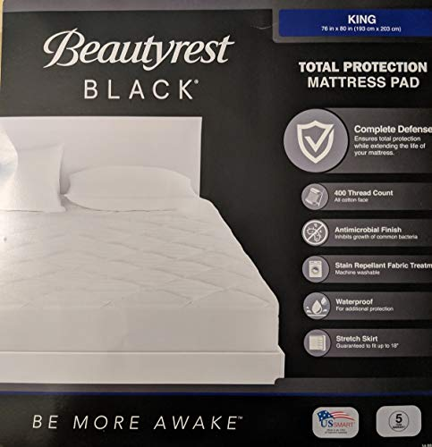 Beautyrest Black King Size Mattress Pad Total Protection 2020