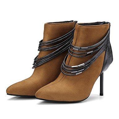 de US5 Materiales Invierno soles mujer Zapatos combate RTRY comodidad Otoño 5 talón personalizados EU36 Cuero CN35 ligero 5 Bootie botas botas UK3 de de Gladiator carrete Stiletto Nubuck BcWTnW6
