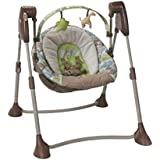 Graco Compact And Comfortable Baby Swing, Brown And Green, Pack Of 1