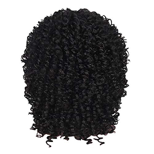Wig Clearance Natural Black Synthetic Wig Fashion Short Bob Wavy Sexy Women Curly Full Wigs by USLovee3000