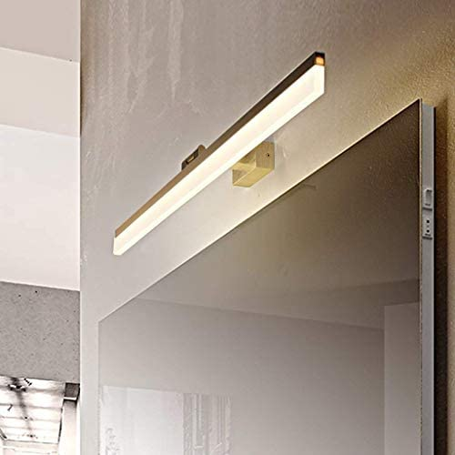 AZWE Spiegelleuchte Wand Badezimmerspiegel Frontleuchte Wasserdicht Anti Fog Led Wandleuchte Spiegelschrank Make-Up Badezimmer Beleuchtung Lampe
