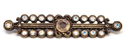Carpe Diem Hardware 890-3AB Caché Escutcheon with Swarovski Crystals, Antique Brass