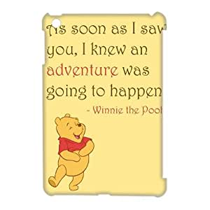 Lycase(TM) Winnie the Pooh quote DIY 3D Phone Case, Winnie the Pooh quote Ipad Mini Hard Back 3D Case