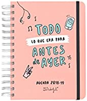 Mr. Wonderful Agenda Escolar rotu 2018-2019 Diaria Todo lo Que era ...
