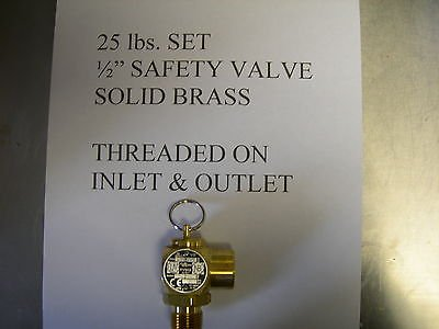 Fits Broaster,Solid Brass Safety Relief Valve All Mod. Fits Henny Penny Fryer To by Roaster's Own