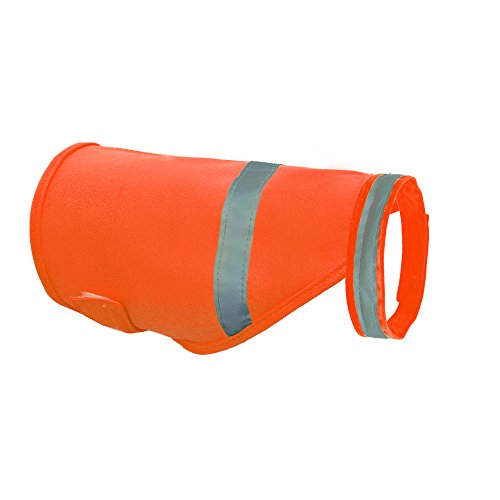 PET ARTIST High Visibility Dog Vest Safety Reflective Visible for Outdoor Activity Day and Night Orange Green ()