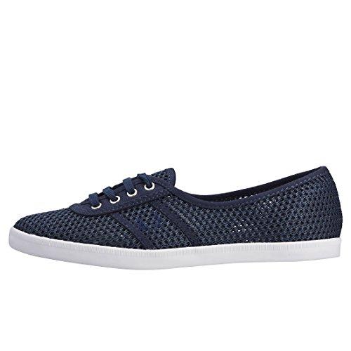 Fred Perry Aubrey Maglia Damen Sneaker Blu Blau Carbonio