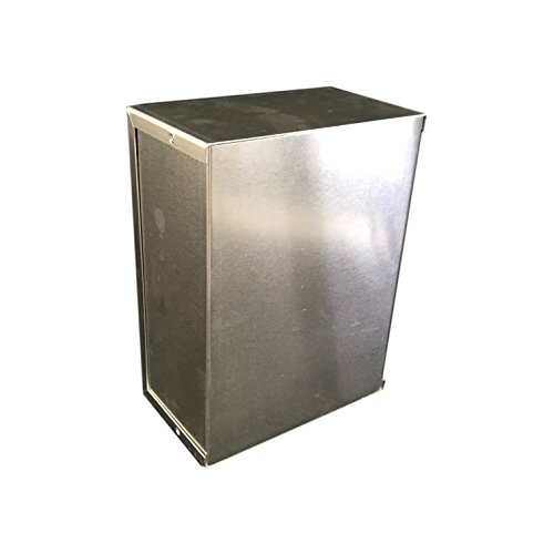 BUD Industries CU-3009-A Aluminum Electronics Minibox, 8 Length x 6 Width x 3-1/2 Height, Natural Finish
