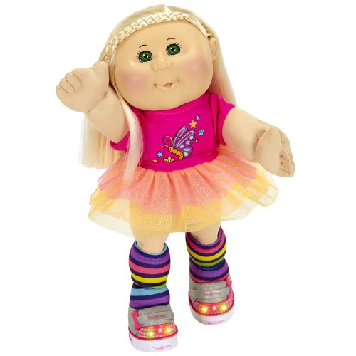 Cabbage Patch Kids Twinkle Toes: Caucasian Girl Doll, Blonde, Green Eyes