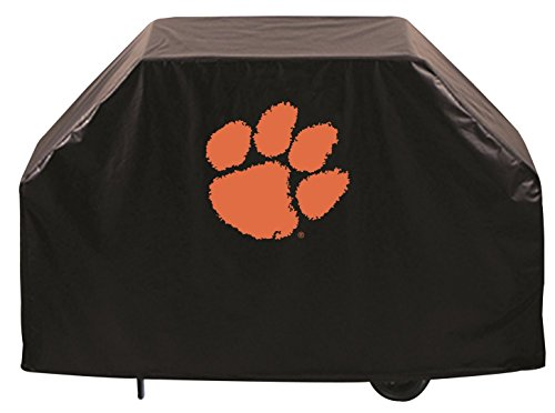 Clemson Tigers HBS Black Outdoor Heavy Breathable Vinyl BBQ Grill Cover (60