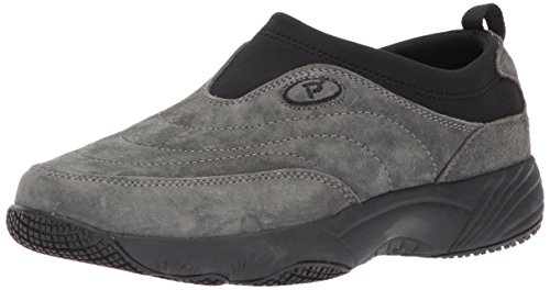 Propet Slip on Women's Ll Pewter Sr Wash Wear Walking N Suede Shoe qZRf1q