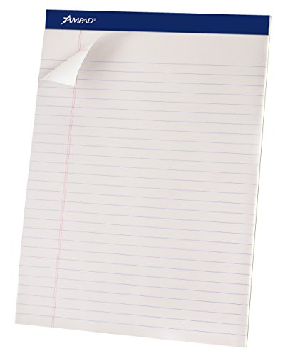 Style Ruled Pads (Product of Ampad White Letter Perforated Wide-Ruled Pad, 50 Sheets, 12 pk. - All Notebooks [Bulk Savings])