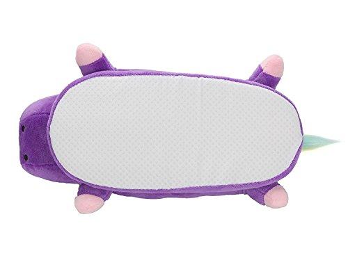 Pantoufles Antidérapant Chaussures Slippers Adulte Violet Cartoon Minetom Chaussons Animal Unisexe Chaud Peluche Licorne Femme Hiver Homme q1Tp7t