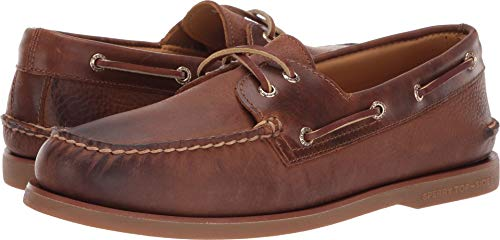 (Sperry Top-Sider Gold Cup Authentic Original Rivingston Boat Shoe Men 8 Tan)