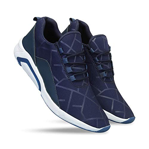 WORLD WEAR FOOTWEAR Men Blue-1244 Sports Shoes, Running Shoes for Men,Cricket Shoes,Casual Shoes,Trekking Shoes,Comfortable for Men's