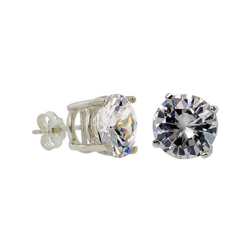 Sterling Silver Zirconia Earrings Setting