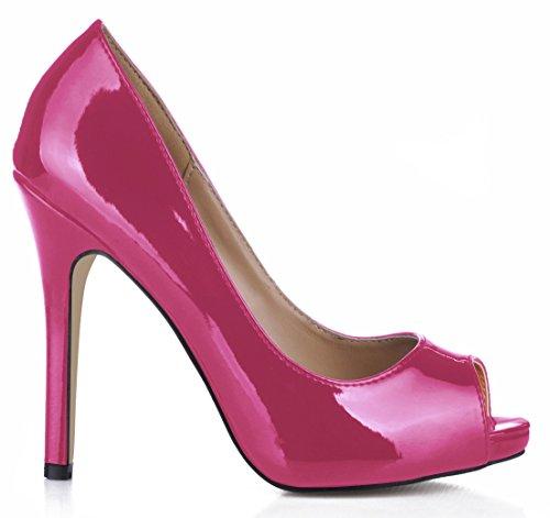 le Les grandes poisson de Bright rouge à haut chaussures Pink réformateur vin astuce goût Mirror de sens célibataires talon l'automne de chaussures boîtes fines femmes femmes des YarqSnY