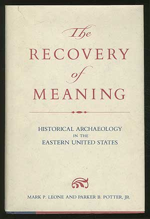 RECOVERY OF MEANING (ANTHROPOLOGICAL SOCIETY OF WASHINGTON SERIES) pdf