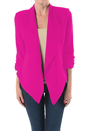 hot pink blazer for women - 8