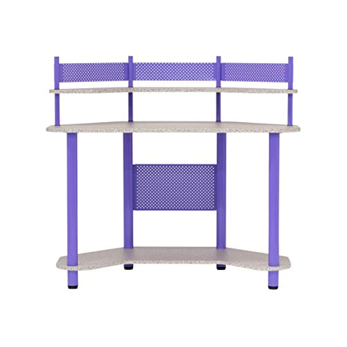 Calico Designs 55121 Study Corner Desk, Purple (Desk Purple Computer)