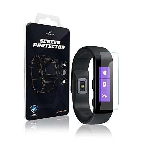 EXINOZ Microsoft Band Screen Protector I Protection with 1-Year Replacement Warranty I Get The Best for Your Microsoft Band Smart Watch (Microsoft Watch)