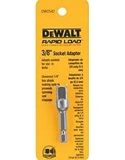 DEWALT DW2542 1/4-Inch Hex Drive to 3/8-Inch Socket Adapter, Silver