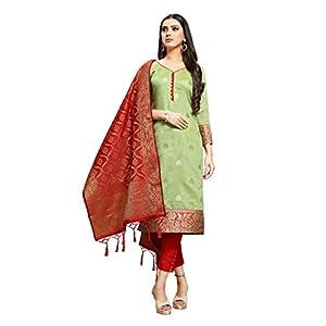 EthnicJunction Women Silk Un-Stitched Dress Material with Dupatta