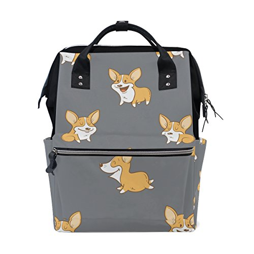 MAPOLO Corgi Dogs Puppy Diaper Backpack Large Capacity for sale  Delivered anywhere in Canada