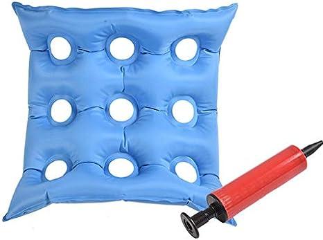 HSJDP Hipoalergénico Aire Inflable cojín del Asiento, Mesa de Tratamiento llagas, escaras Cirugía Dolor Infantil Nacimiento Embarazo textuales, Adecuado para sillas de Ruedas Asiento de Coche
