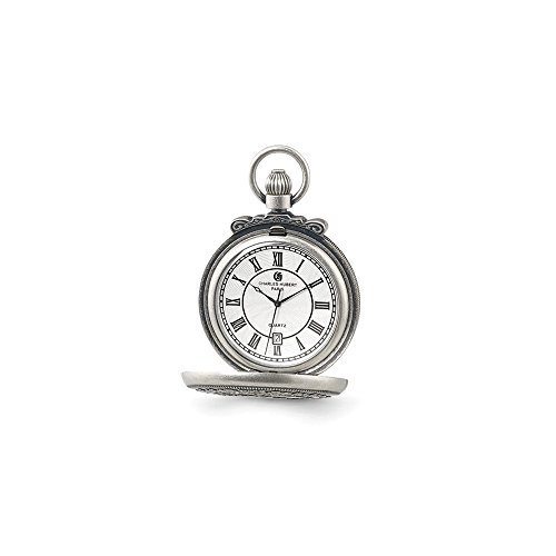 Charles Hubert Antique Chrome Finish Steam Engine Pocket Watch ()