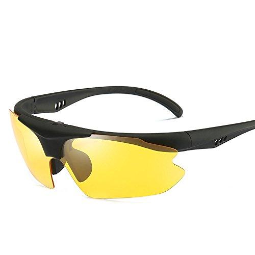 La Semi lens Gafas De Conducción Caja Sol TIANLIANG04 Plegable Con De Lente Polarizadas Hombres De Polarizadas yellow Roja Para Gafas Reborde Uv400 Hombres Sol A5gwvq