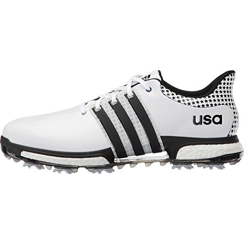 adidas Golf Men's Tour 360 Boost - Limited Edition Ryder Cup White/Black/Grey Sneaker 9 M