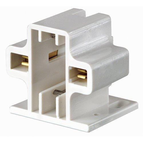 Leviton 26719-200 G23, G23-2 Base, 5W 7W 9W 2-Pin, Compact Fluorescent Lampholder, Horizontal, Screw-Down, Code, White Body 2 Base Compact Fluorescent Holder