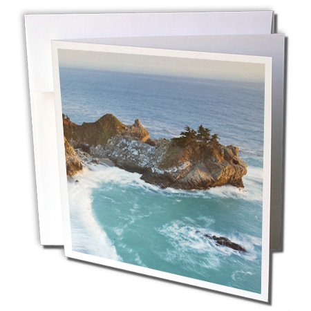 3dRose McWay Falls, Julia Pfeiffer Burns SP, California - US05 CHA0067 - Chuck Haney - Card Cards, 6 x 6 inches, set of 12 (gc_88298_2)