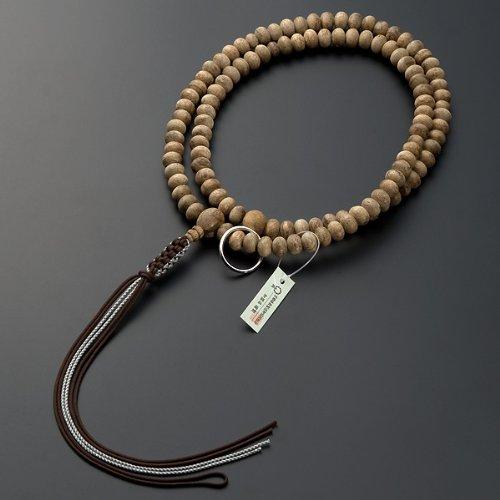 曹洞宗本式数珠(男性用)沈香みかん玉 尺三 正絹紐房