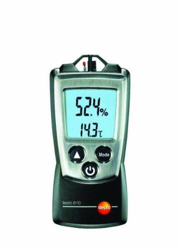 Testo 0560 0610 Pocket Pro Air Moisture and Temperature Measuring RH Meter, 2 AAA Battery