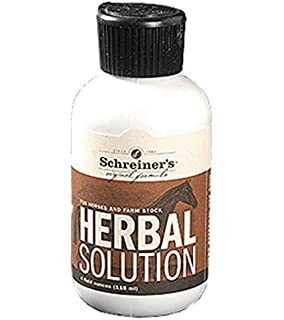 Amazon com : Schreiners Herbal Solution 8 5 Oz : Horse Liniments