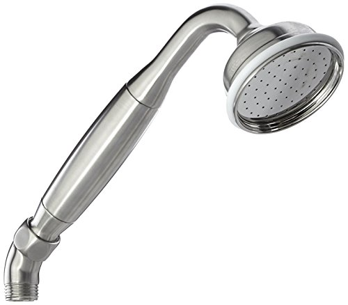 Rohl 9.27745STN Perrin & Rowe Handshower without Incline Only with Metal Insert for Deck Bath Mixers Exposed Tub Fillers with Cradles & Exposed Therms, Satin Nickel ()