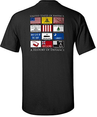 Flags of Defiance T-Shirt Black - Large