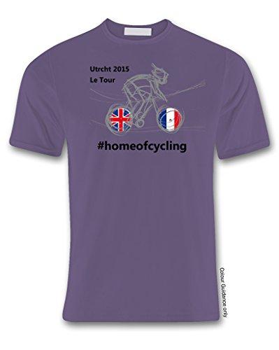 para 360 morado color manga de Ciclismo Camiseta hombre corta Xf8Xdw