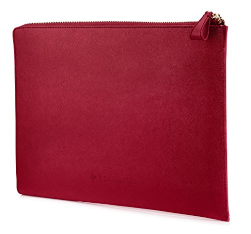HP Spectre 13-inch Laptop Leather Sleeve (Red with Copper-finished Hardware) (Hp Spectre Split)