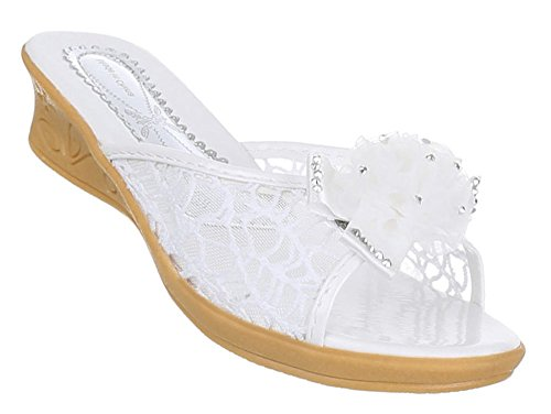 Kinderschuhe Sandalen Pantoletten Weiß