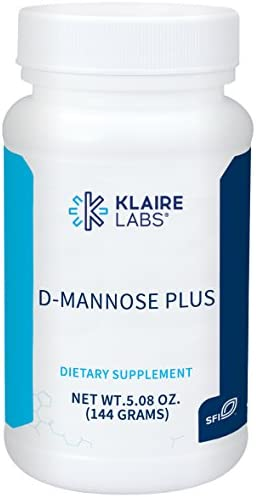 Klaire Labs D-Mannose Plus Powder – Hypoallergenic Urinary Tract Support Drink Mix Formula with Cranberry Vitamin C in Natural Berry Flavor 30 Servings, 144 Grams